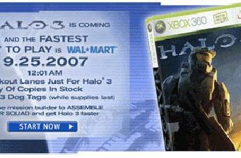 Wal-Mart goes extra mile in Halo 3 launch madness