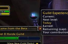 Patch 4.0.1 adds new guild UI features