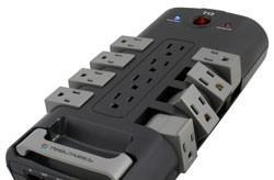 Tributaries T12 power strip features rotating outlets