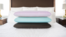 This aromatherapy pillow has us intrigued (because we will do anything for sleep)