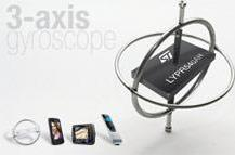 STMicroelectronics' 3-axis MEMS gyroscope gives a new level of control to your mobile
