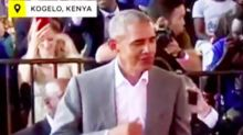 Watch Barack Obama Joyfully Dancing About 7,000 Miles Away From Trump