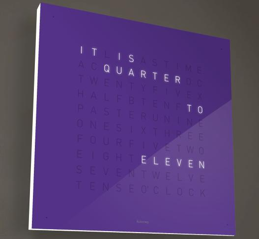 Biegert & Funk QLOCKTWO gets an English version, our sincerest admiration