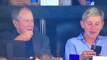 Ellen DeGeneres Sits Next To George Bush At Cowboys Game. Fans React.