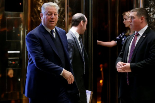 Al Gore after a meeting with President-elect Donald Trump at Trump Tower, December 5, 2016