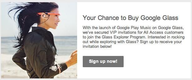 Google Play Music All Access customers are next in line for Glass