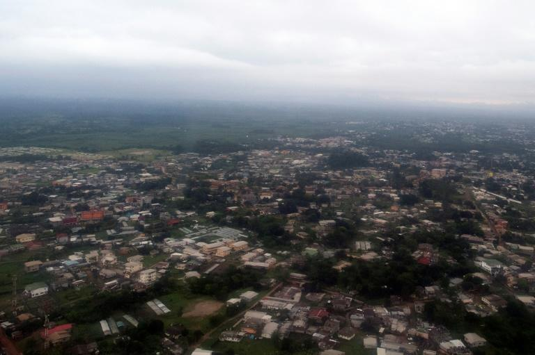 The city of Libreville is pictured in January 2017