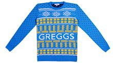 Dress for Christmas in a Greggs Sausage Roll, Fleabag or Louis Theroux Christmas novelty knit