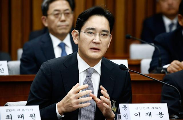 Samsung boss is a suspect in a South Korean political scandal