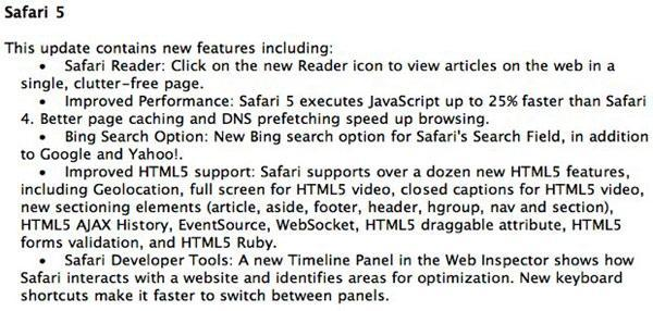 Safari 5 to join Steve onstage Monday for WWDC?