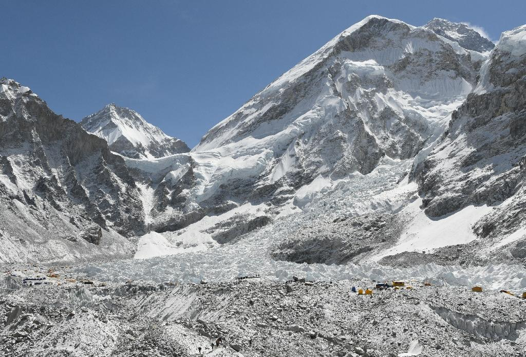 A base camp at Mount Everest: the world's highest peak has claimed its fourth fatality this season