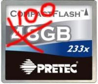 Pretec breaks records, banks with 100GB, 64GB, and ultra-fast 32GB CF cards