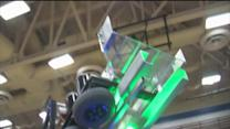 East Lake HS frisbee machine for the First Robotics Competition