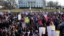Manifestaciones masivas en la segunda Marcha de las Mujeres