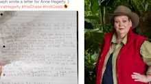 'Im a Celeb': Autistic boy pens heartfelt letter to Anne Hegerty