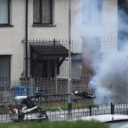 Large bang after bomb disposal robot enters van in Northern Ireland's Londonderry