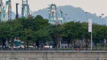 PHOTOS: Volocopter air taxi's test flight at Marina Bay