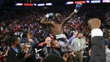 Terence Crawford KOs Julius Indongo in three rounds to become undisputed champion