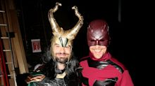 Tom Hiddleston and Charlie Cox swap comic book characters for Halloween surprise