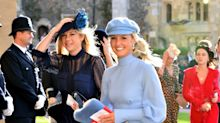 Why Chelsy Davy's royal wedding outfit today looked eerily familiar