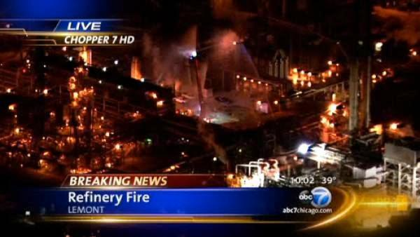 CITGO refinery fire extinguished in Lemont