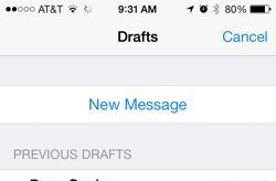 How to quickly browse draft emails on your iPhone