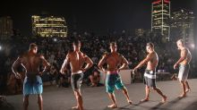 AP PHOTOS: Masks, COVID-19 no match for Israeli bodybuilders