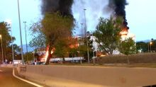 Costa del Sol fire: 'One dead and ten injured' as huge blaze rips through hotel