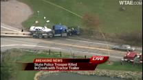 Sources: Trooper killed in crash with tractor-trailer