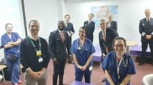 Coronavirus: Moment BA staff in full uniform greet NHS workers with breakfast after 'horrific night shift'