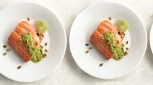 Date Night Beauty Food: Wild Salmon with Pumpkin Seed Cilantro Pesto