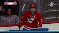 Semin feeds Staal for a breakaway goal