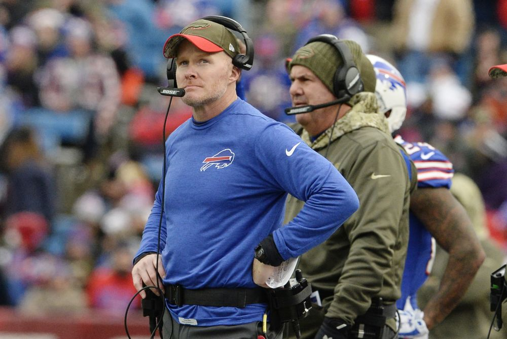 Buffalo Bills head coach Sean McDermott made a bold move to change quarterbacks before Week 11. (AP)