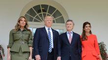 El look de Juliana Awada en la Casa Blanca