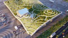 絕美梯田式屋頂設計!超現代果菜市場在台灣
