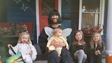 Dad tweets about hilarious Halloween antics with his four daughters
