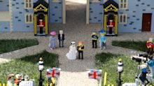 La boda del príncipe Harry de Inglaterra y Meghan Markle, en versión Lego