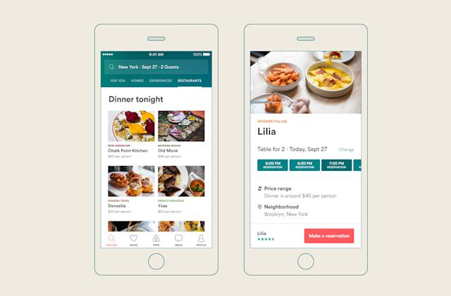 Airbnb wants to help you book a restaurant reservation, too