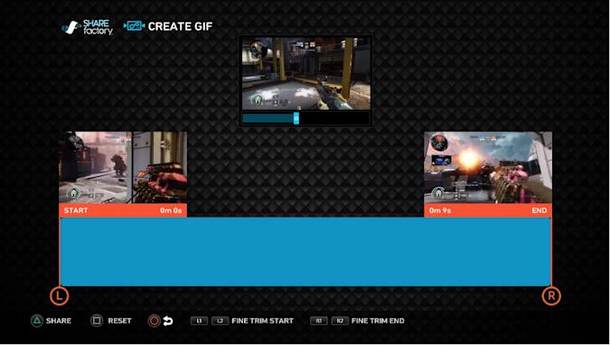 PS4's Sharefactory app now lets you make GIFs from your videos