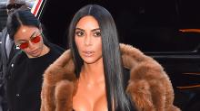 Kim Kardashian West Steps Out Wearing Yeezy Boots for a Family Movie Night