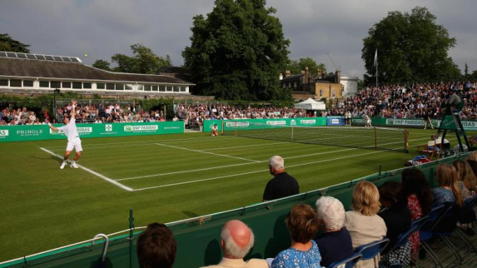 Andy Murray begins final preparations for Wimbledon at the Hurlingham Club