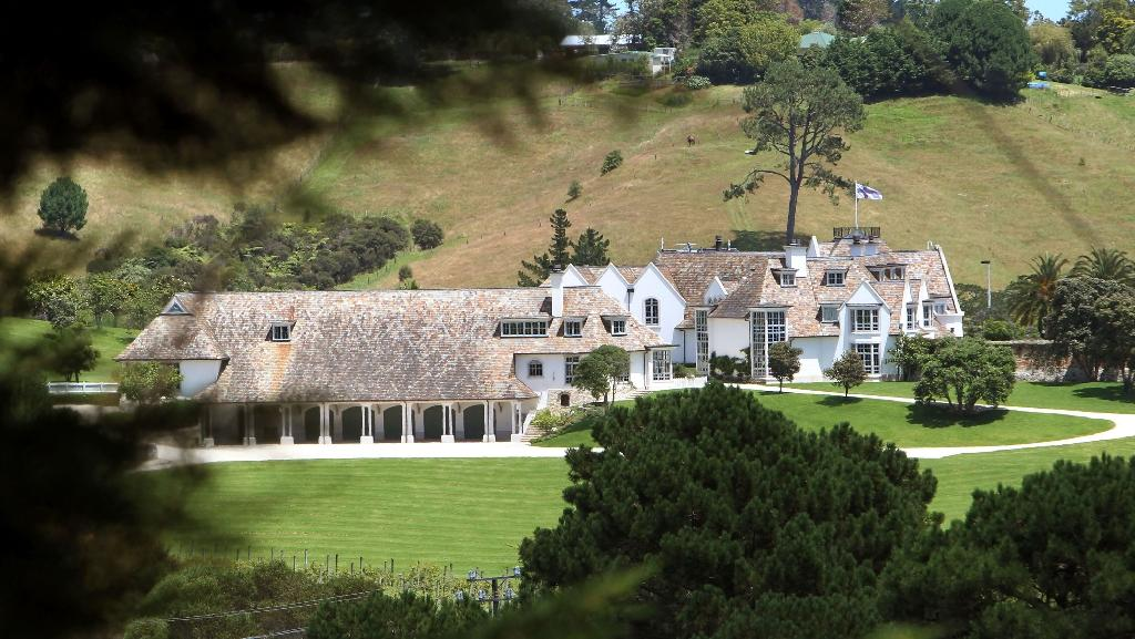 """The internet mogul used the wealth generated from his website to fund a lavish lifestyle, including his """"Dotcom Mansion"""" in New Zealand (AFP Photo/MICHAEL BRADLEY)"""
