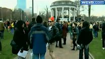 Boston Common vigil held for Marathon bombing victims