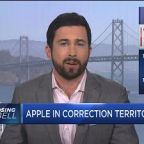Apple dips into correction on weak iPhone sale forecasts