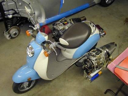 Ron Patrick's jet-powered Honda scooter