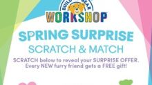 "Springtime Surprises: New ""Scratch & Match"" Gifts with Purchase, Scrambles™ Mix 'n' Match Gifts and In-store Activities in Bloom at Build-A-Bear Workshop®"