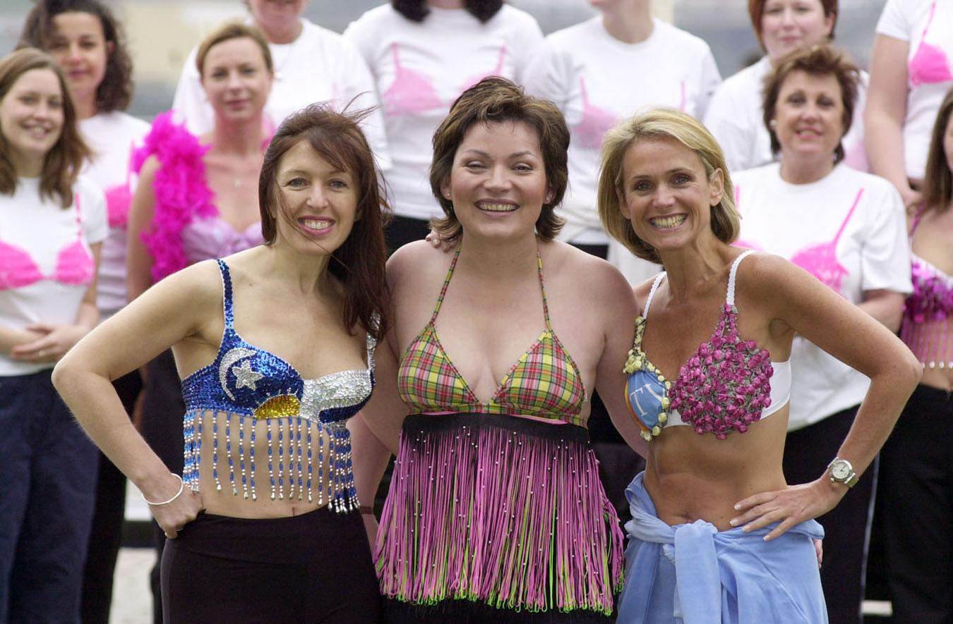 GMTV Presenter Lorraine Kelly (centre) is joined by her fitness guru colleague Nicky Waterman (right) and the founder of Playtex Moonwalk, Nina Barough.    *  They are in front of some of the women who on Saturday will take part in the Playtex Moonwalk to help in the fight against breast cancer.  Over 10,000 women, and a few men, from all across the UK will gather at Battersea Park in London to take part in the Playtex Moonwalk, the only power-walking marathon in the world. The event began five years ago with 65 power walkers and has since raised in the region of  3 million for breast cancer research and care.