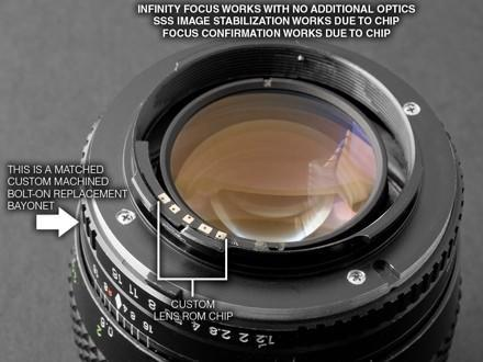 Minolta lens conversion for A700 with ROM chip keeps focus and IS