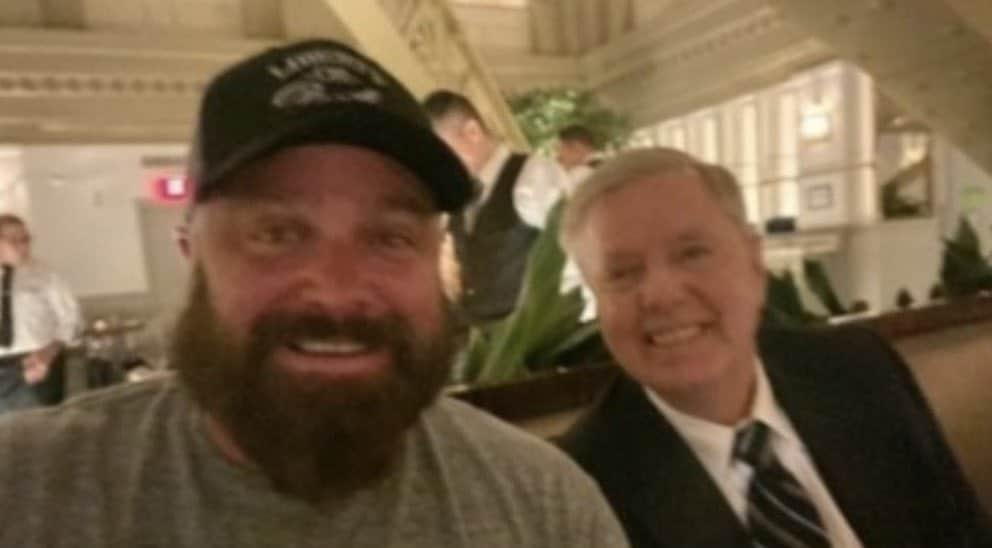 Lindsey Graham photographed with leader of white nationalist group Proud Boys