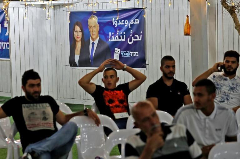 For many Israeli Arabs, voting for a Zionist party is anathema, but the opposition Blue and White alliance is trying to persuade enough of them to vote tactically against Benjamin Netanyahu to oust the veteran prime minister (AFP Photo/AHMAD GHARABLI)